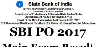 SBI PO 2017