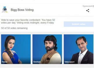 Bigg Boss vote online