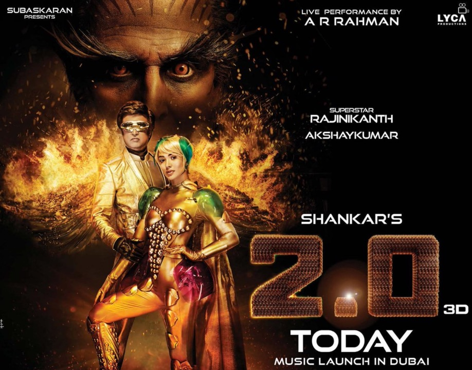 Rajinikanth, Akshay Kumar reveal their fiery side in new '2.0' poster