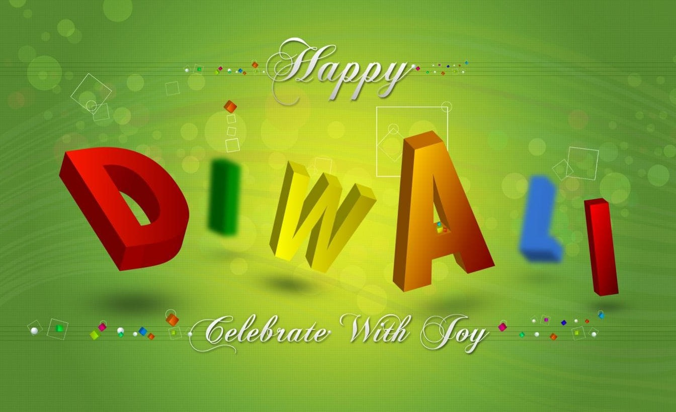 Green Diwali Wallpaper