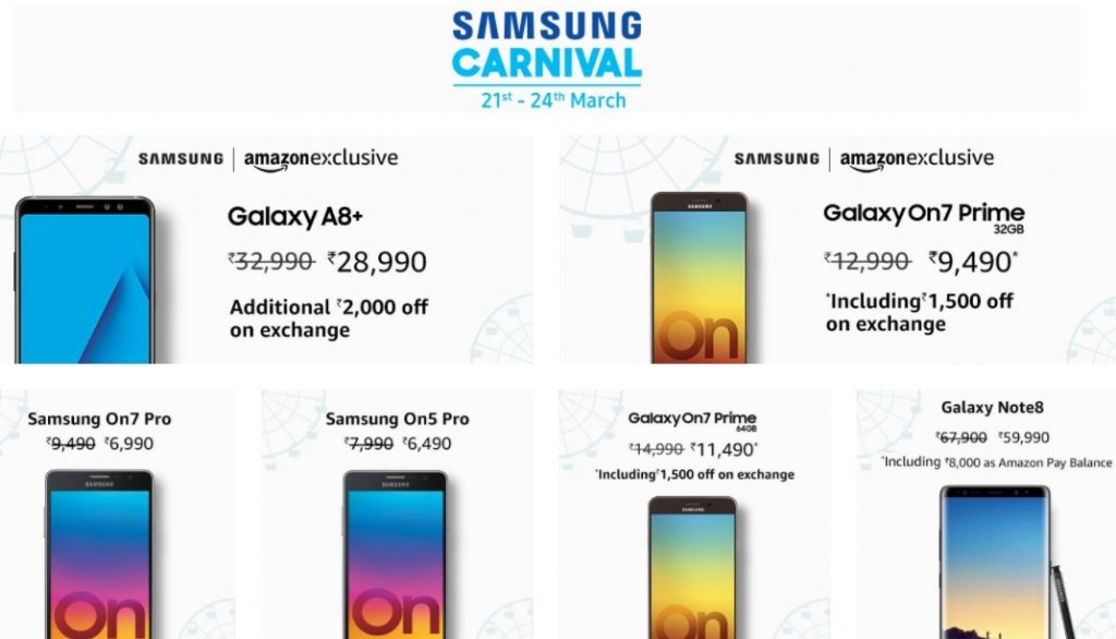 Samsung Carnival - Amazon India Hot deals