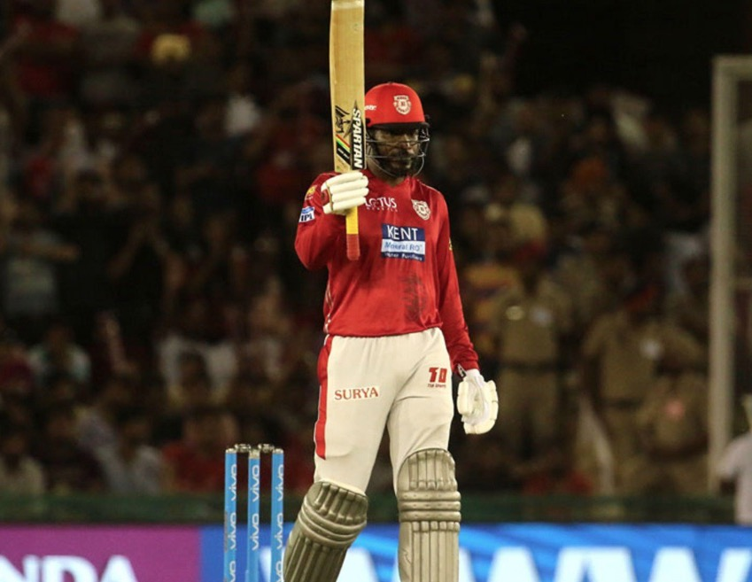 IPL: Gayle ton powers Punjab to 193/3 vs Hyderabad