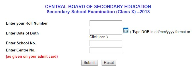 CBSE 10th Result 2018 Declared on cbseresults.nic.in 1