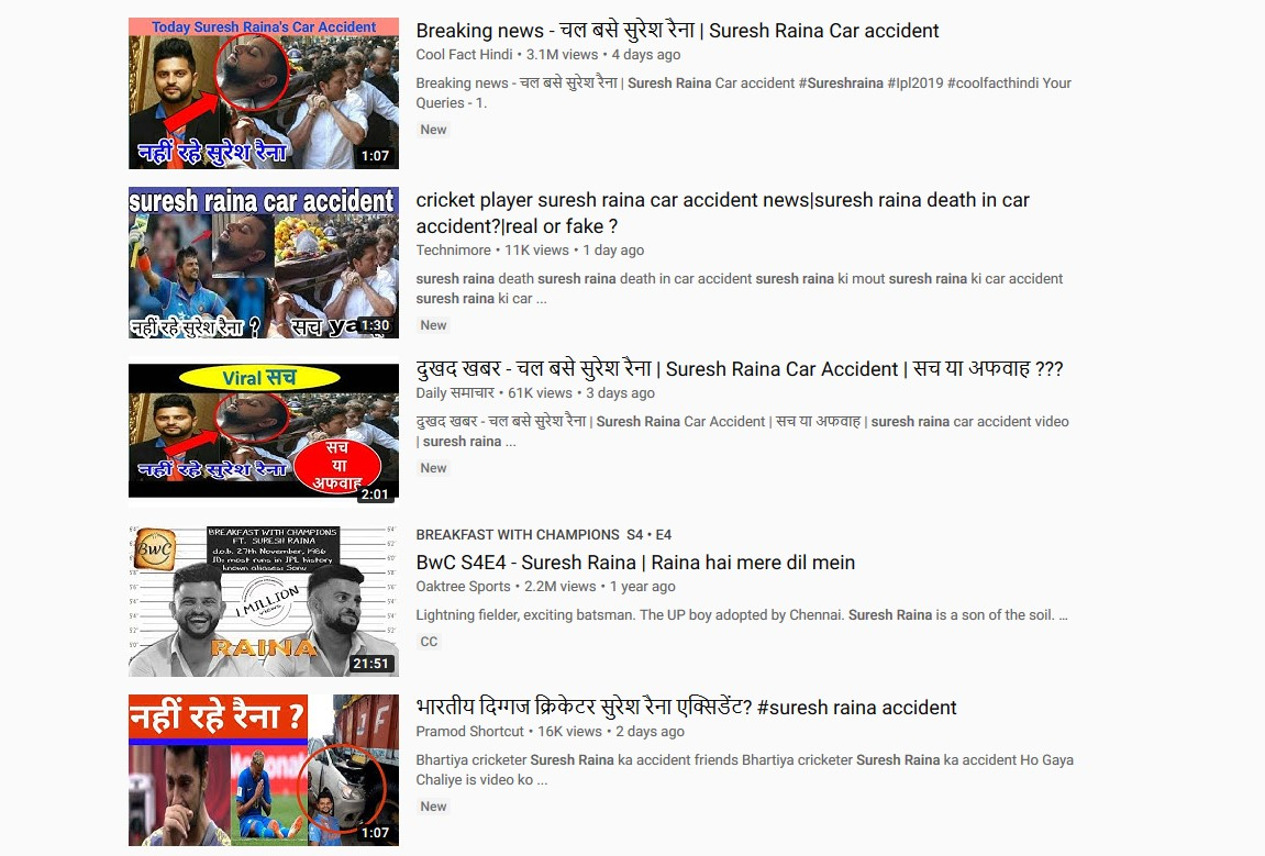 Suresh Raina hits back Fake news report of his death in Road Accident 1